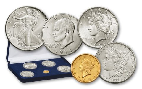 1849-1986 1 Dollar Gold Silver Firsts 5 Pieces Set