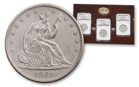 1861 Half Dollar 3 Govt Set Shipwreck SS Republic | GovMint.com