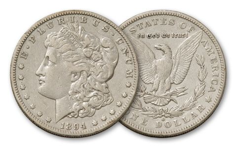 1894-O Morgan Silver Dollar VF
