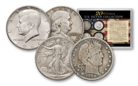 1900-1964 Silver Half Dollar-4 Piece Collection
