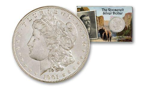 """1901-O Morgan Silver Dollar """"Teddy Roosevelt"""" BU"""