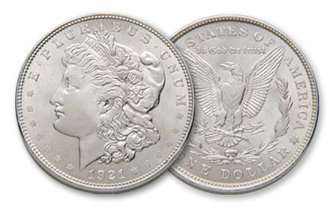 1921 Morgan Silver Dollar - AU