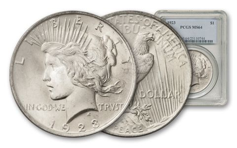 1923-P Peace Dollar PCGS MS64