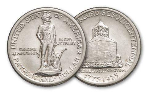 1925 Half Dollar Lexington Silver AU