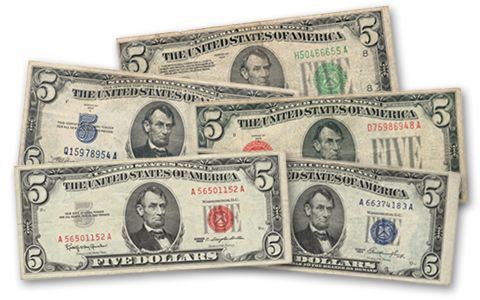 1928-1963 5 Dollar Bill Collection 5 Pieces | GovMint.com