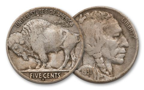 1931-S 5 Cent Buffalo F-VF