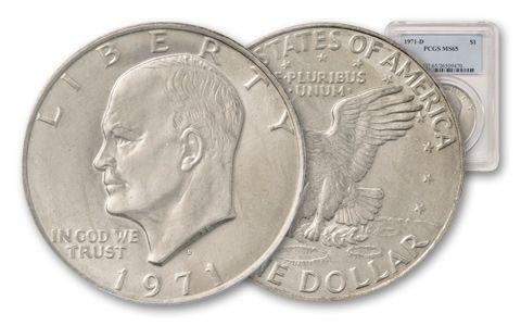 1971-D Eisenhower Dollar PCGS MS65