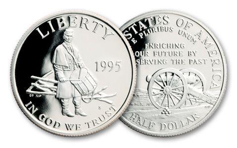 1995-S 50 Cent Civil War Battlefields Proof