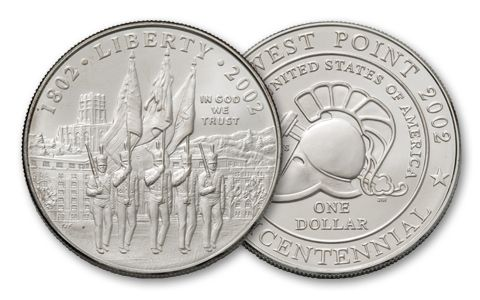 2002-W 1 Dollar West Point Bicentennial BU