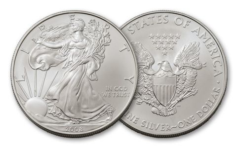 2008 1 Dollar 1-oz Silver Eagle BU