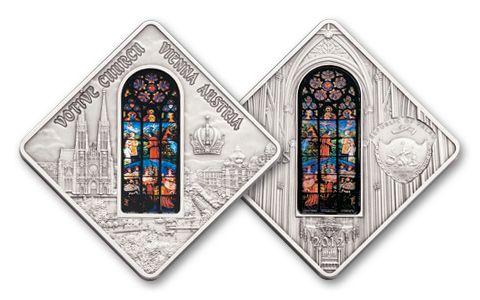 2012 Palau 10 Dollar Silver Votive Church Vienna Antique