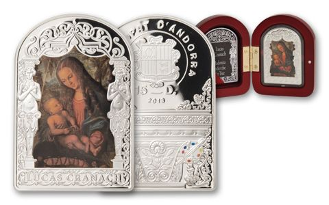 2013 Andorra Silver Madonna Under The Fir Tree Proof
