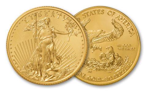 2014 $50 1-oz Gold Eagle BU