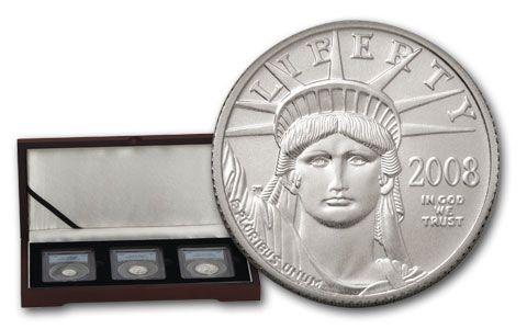 2008 U.S. Platinum Eagles PCGS MS69 3pc