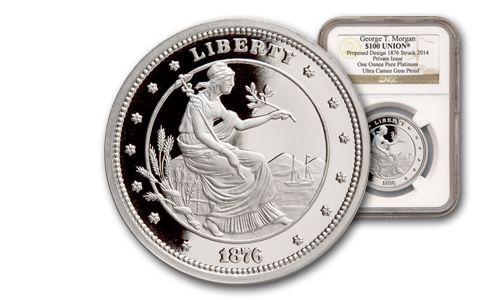 SM 1-oz Platinum 100 Dollar Union NGC Gem Proof