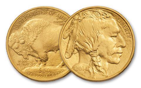 2014 50 Dollar 1-oz Gold Buffalo BU