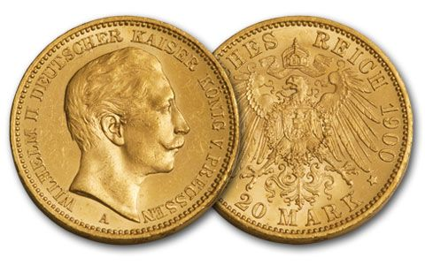 1888-1915 Germany 20 Marks Gold  BU