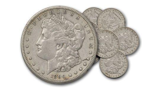 1878-1904 1 Dollar Morgan Silver XF 10pc