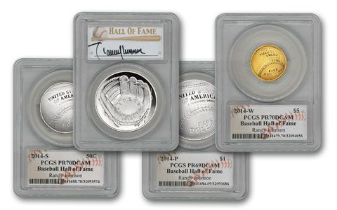 2014 Baseball Hall of Fame PCGS PR70DCAM 12-pc Set