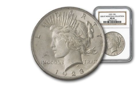 1923 Montana Collection Peace Silver Dollar MS66