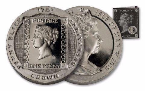 2015 Isle of Man Postage Stamp Penny Black Proof
