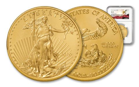 2016 50 Dollar 1-oz Gold Eagle NGC MS69