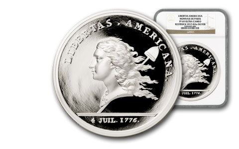 2015 France Kilo Silver Libertas Americana Proof NGC PF69UCAM