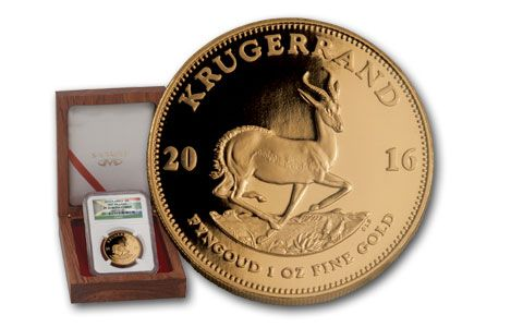 2016 1-oz Gold Krugerrand First Release NGC PF70