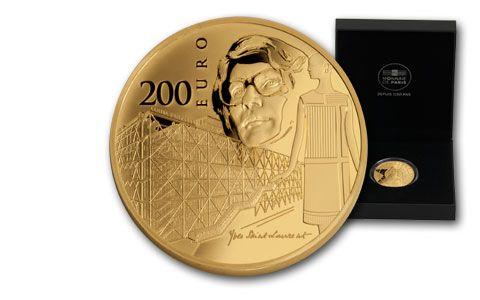 2016 France 200 Euro 1-oz Gold Europa Star Yves Saint Laurent Proof