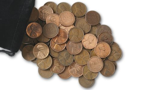 3 Troy Pound Bag of 1909-1958 Wheat Pennies