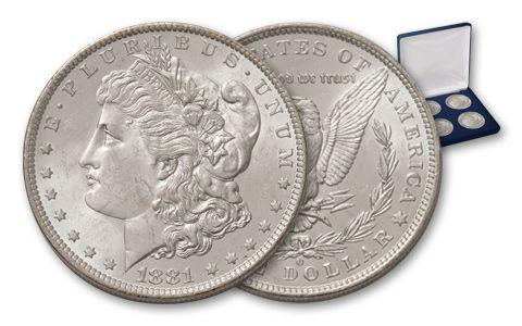 Morgan Silver Dollar New Orleans Collection BU 4 Pieces