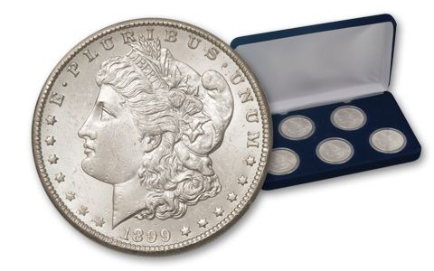 Morgan Silver Dollar Trail of Outlaws Set BU 5 Pieces