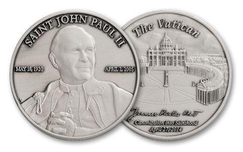 Saint John Paul II 1-oz Silver Commemorative