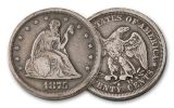 1875-1878 Twenty Cent Seated Liberty VG