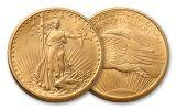 1908-P 20 Dollar Saint-Gaudens No Motto BU