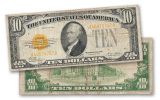 1928 10 Dollar Gold Certificate Note Fine