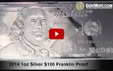 2014 $100 Silver Franklin Proof