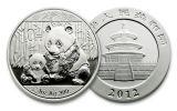 2012 China 1-oz Silver Panda BU