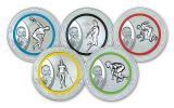 2013 Olympic 150th Anniversary Coubertin Silver 5-Pc Set