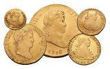 1742-1833 Spain Gold Escudo VF 5-Piece Set