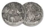 2016 Cook Islands $2 2-oz Silver Gods & Goddesses of Olympus High Relief Antiqued 4-Piece Set NGC MS70