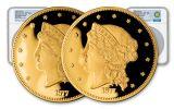 1877 Smithsonian 1/2-oz Gold Half Union Set NGC PF70UCAM 2pc