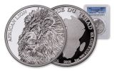 2018 Chad 5000 Franc 1-oz Silver African PCGS PR69DCAM First Strike