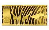 2018 Tanzania 1500 Shilling 1-gram Gold Big Five African Lion Proof-Like