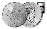 2018 Canada 1-oz Silver Incuse Maple Leaf NGC MS70 First Releases - Black