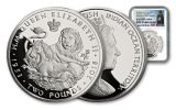 BIOT 2018 Sapphire Coronation 1-Ounce Silver Lion and Unicorn NGC PF69UC First Releases