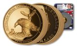 2018 Australia Wedge-Tailed Eagle 5-oz Gold High Relief Proof NGC PF70UC FR Flag Core Mercanti Signed
