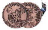 Apollo 11 Robbins Medal 1-oz Copper Antiqued - 50th Anniversary Commemorative