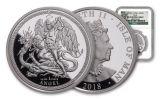 2018 Isle of Man 1-oz Silver Angel NGC PF70UC - Angel Label
