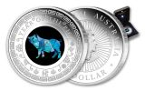 2019 Australia $1 1-oz Silver Lunar Year of the Pig Opal Proof